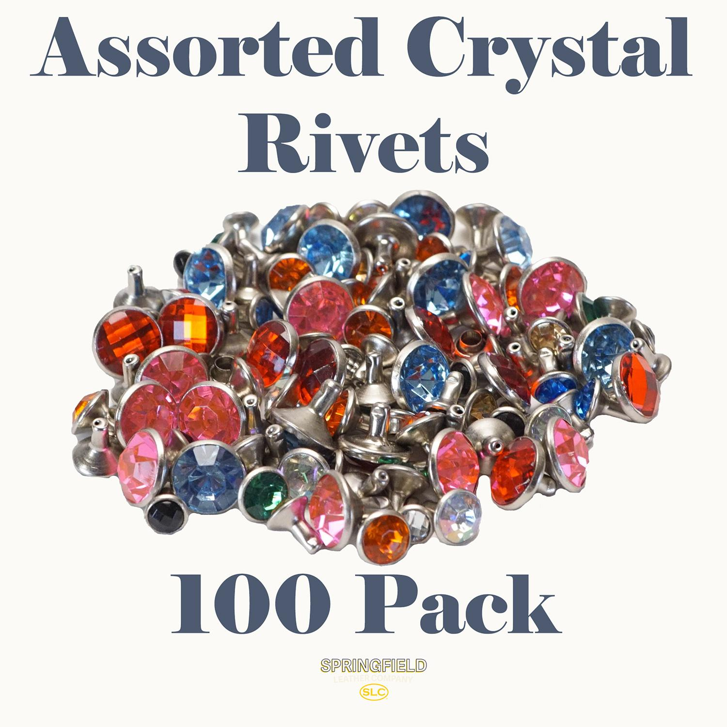 Assorted Crystal Rivets - 100 Pack