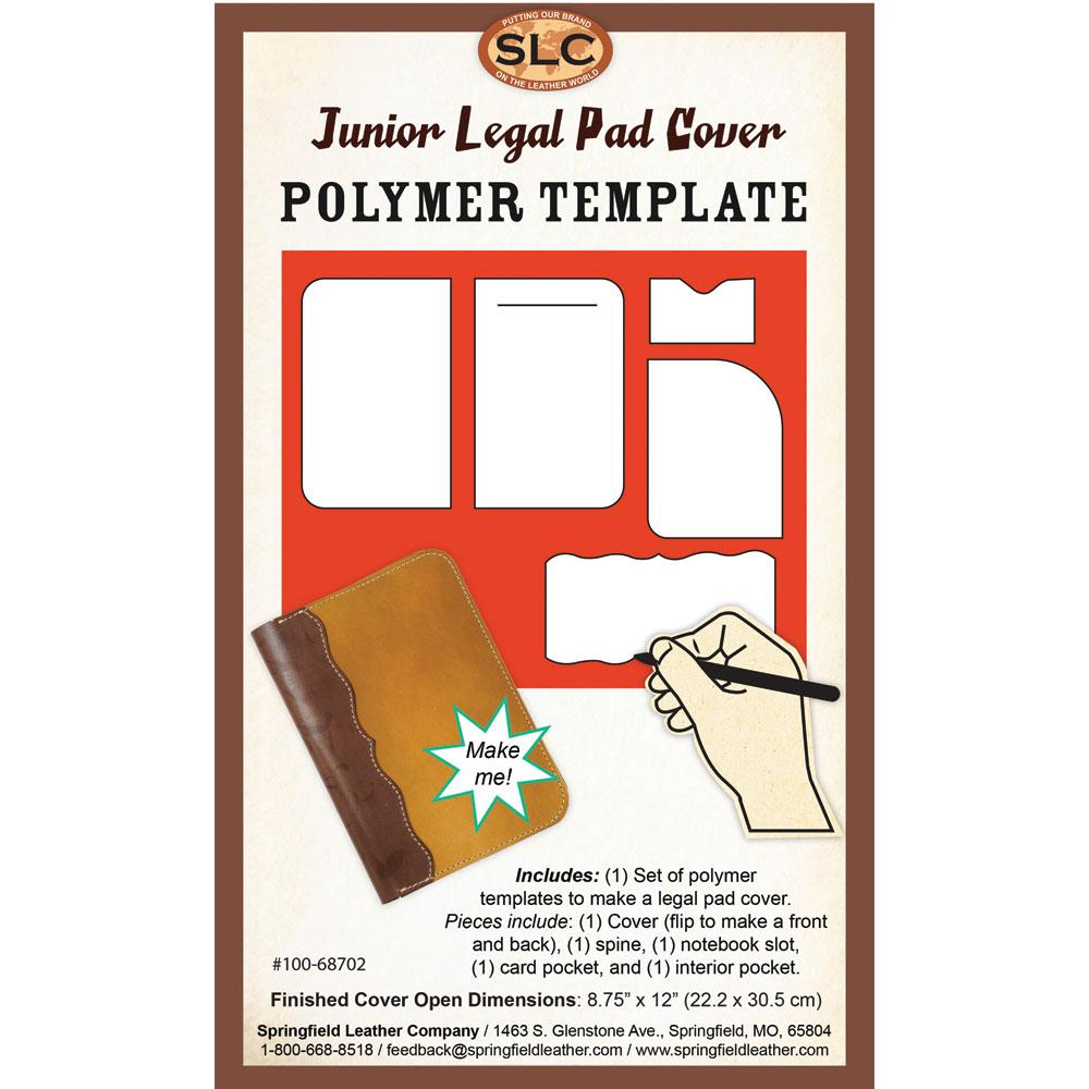 poly templates junior legal pad cover