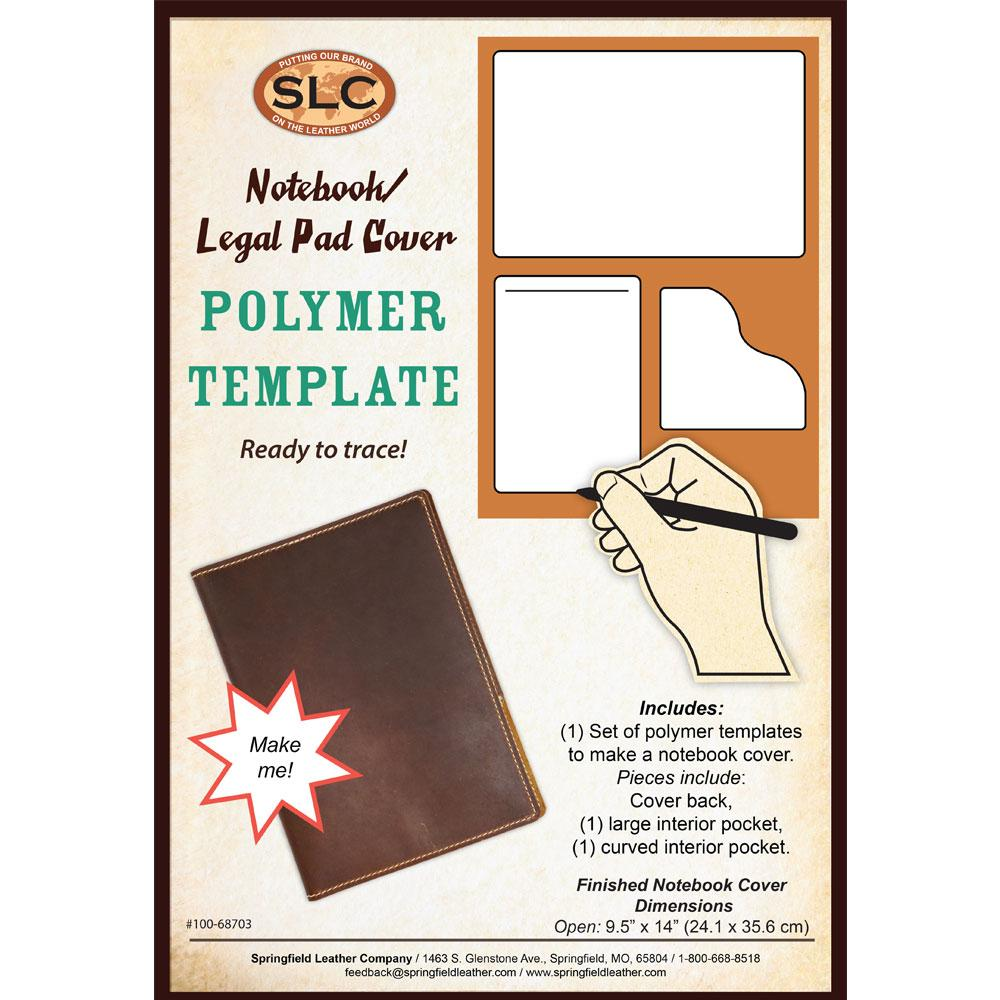 polymer templates notebook legal pad cover