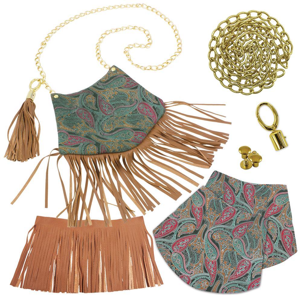 634099c07a Bohemian Fringe Bag Kit- Green Brown