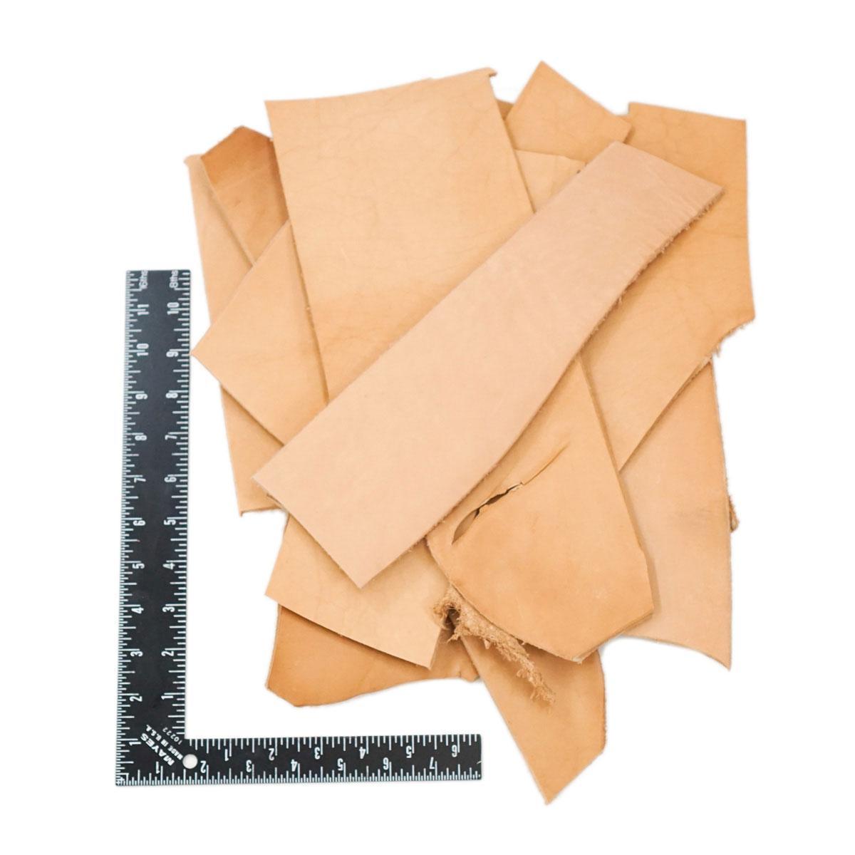 Job Lot of 20 x Veg Tan Leather Fobs Crafts
